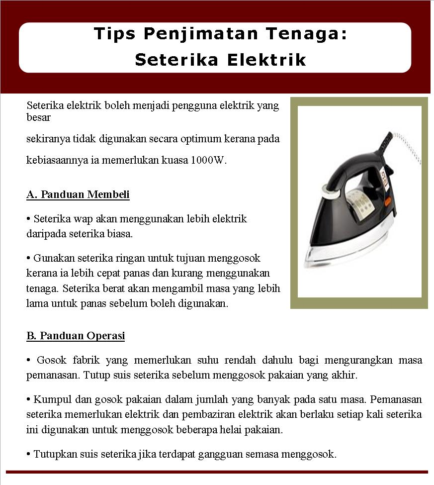 Februari 2019 Tips Penjimatan Tenaga Seterika Elektrik Widad Builders Sdn Bhd